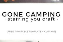 Camping out crafts/activities
