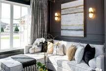 Grey and gold decor