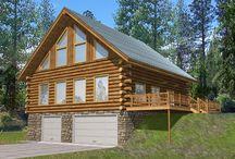 Garage Plans for a Sloping Lot / Detached garage plans designed for a sloping lot or hillside.