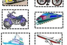 Μέσα μεταφοράς - Κυκλοφοριακή αγωγή / Ιδέες για κατασκευές - φύλλα εργασίας - δραστηριότητες