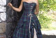 Scottish bride fashion