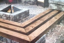 wood/stone bench