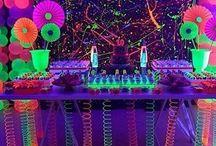 festa tema neon