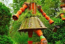 Garden Art / Garden Art has become my new obsession! I see art in all the junk others throw out.  / by Kelly Taylor