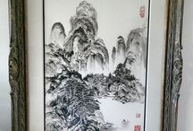 Chinese Landscape Paintings / Landscape Chinese Brush Paintings by Nan Rae