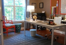 Stylish Home Offices / Inspiration for creating an enjoyable atmosphere for your work space at home! Anything from organization to cozy design ideas-