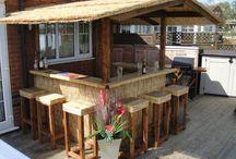 Beach style outdoor bar