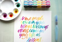 handlettering and watercoloring