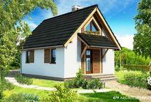 projekt domu letniskowego - projekt zamienny / 479 - projekt domu letniskowego - projekt domu drewnianego - projekt zamienny - Slupca- architekt - rzut parteru - rzut pietra - elewacje - projekt architektoniczny Slupca  #projekt #domu #projekt #dom #adaptacja #architekt #slupca #architektslupca