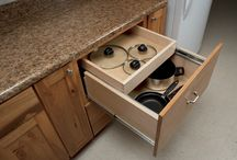 Cabinetry Organization / Our Woodland line of cabinetry offers a great selection of kitchen organization options.