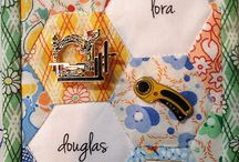 Quilted name tags