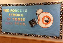 School displays / Bulletin board displays my husband and I have created at our daughter's school.