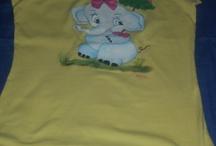 TRABAJOS HECHOS POR MI: PINTURA EN TELA / Camiseta de algodón pintada a mano
