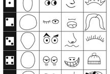 Funny face drawing game