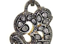 .925 Silver Diamond Antique Pendant