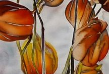 Pinturas / Pinturas de quimonos de seda