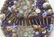 Lisa's Mosaics / My mixed-media mosaics made from ceramics, glass, stone, found objects