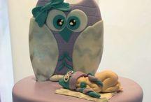 baby Shower - baby owl