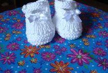 sapatinhos de tricô bebê