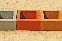 """Planter (Pilaster) Block / These 16"""" x 16"""" x 8"""" Planter Block are great for raised planters, can be turned on their side and stacked for inexpensive storage areas, and much more. They are manufactured at St. Vrain Block in Dacono Colorado and for more info about this item call us at 303-833-4144"""