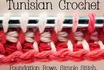 Tunisian Crochet Stitch.