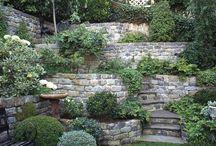 Zahrada schody