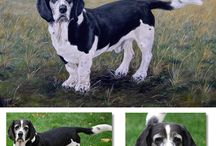 ETSY shop - my dogs / My own dog portrait oil paintings and drawings available as custom commissions.