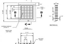 Drainage CAD drawing / CAD blocks