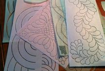 Using hand quilting stencils
