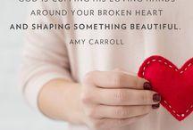 Broken heart and hurt
