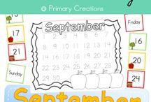 Preschool Daily Calendar Notebook / 0