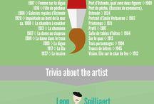 Infografiken / Infografiken zu verschiedenen Künstlern und Kunstthemen.
