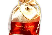 Thamboolam Bags  Gift Bags / Ethnic Thamboolam Bags are Made on brightful embroidery and silk fabric