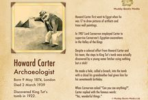 Ancient History Learning Resources - Fact Sheets, Posters, etc / Fun fact sheets for kids including the famous British Archaeologist Howard Carter, and King Tututankhamen, AKA The Boy King, or King Tut.  Also a fun poster on How To Make a Mummy (in case you ever need to make one in a hurry!)