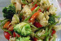 saladas e verduras