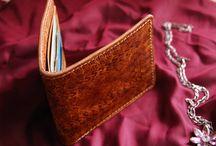 Veg tan leather bifold wallet, custommade