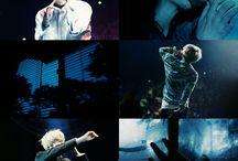 bts; blue theme