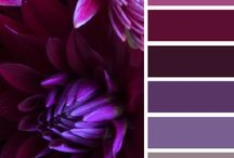 kleuren paletten / Zoek je een mooi kleur palet voor je bruiloft? Kijk hier voor inspiratie.