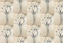 Funky weird Art Fabrics and wallpaper