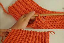 crocher tshirt bags