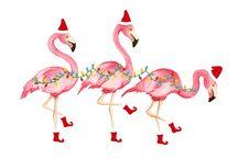Noël Flamingo