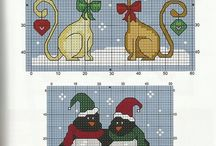 Christmas cross stitches