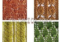 crochet stitches / Crochet stitches that inspire me for creating shawls... And perhaps other items / by EclatDuSoleil