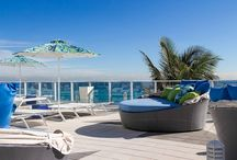 Apogee Beach Hollywood Florida  / Apogee Beach is Hollywood Florida's shining star. A grand vision of glass and steel designed by world renowned architect Carlos Ott. We are proud to be an Outdoor Furniture provider for this prime example of luxury living.