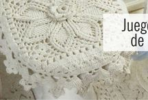 patrones juegos de baño crochet