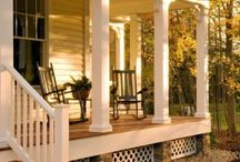 HOUSE: Pretty Porches / The front of your home can look as amazing as the inside!  I am pinning pretty porches that you'd love to sit on and enjoy a nice beverage while watching the kids play!