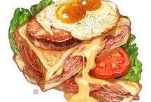 food drawing/graphic art