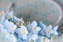 Čelenky a umělé květiny