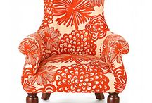 Orange Chairs ♥ Couch