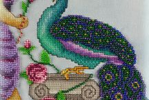 cross stitch birds